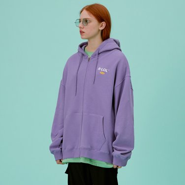 [RLOL] (HZ-20101) RLOL HOOD ZIP-UP LAVENDER