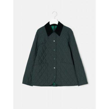 애쉬 퀼팅 체크 리버시블 셔츠형 재킷 (BF9938U554)
