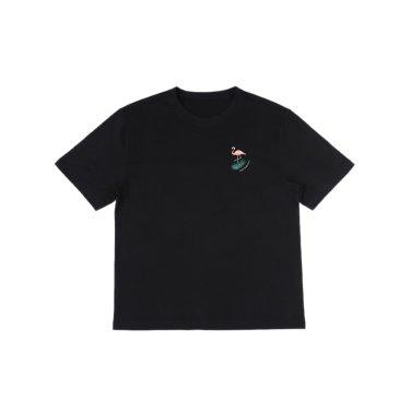 [하이레졸루션] 플라밍고 티셔츠 - BLACK