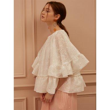 [까이에] Off-Shoulder Lace Blouse