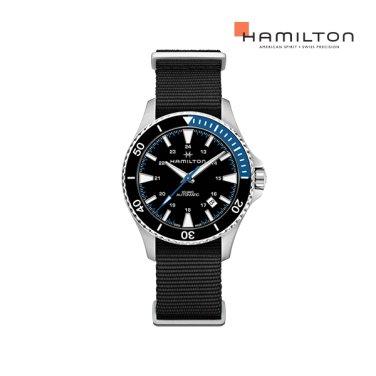 H82315931 카키 스쿠버 오토 40mm 블루-블랙 나토밴드 남성 시계