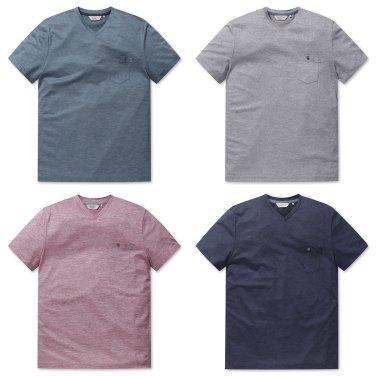 [올젠]믹셀 V넥 티셔츠(ZOZ2TV1312 4종 택1)as