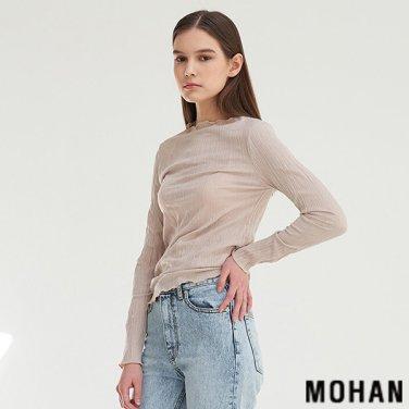 [모한] MOHAN TTS PLEATED LONG SLEEVE TOP _ 3COLOR (MHTTSTS006)