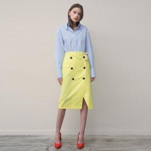 Trench Wrap Skirt (Yellow)