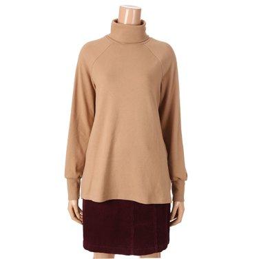 [여성]하이넥 체크배색 기모 티셔츠(T188MTS231W)