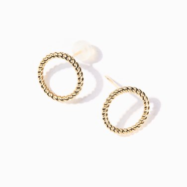 twisted round earring S