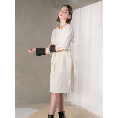 [누팍]Color Line Dress_WH