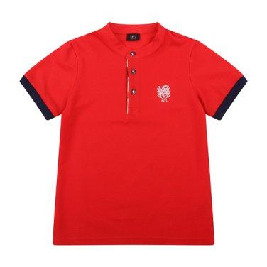 솔리드 헨리넥 티셔츠(DPM12TR19M_RD)