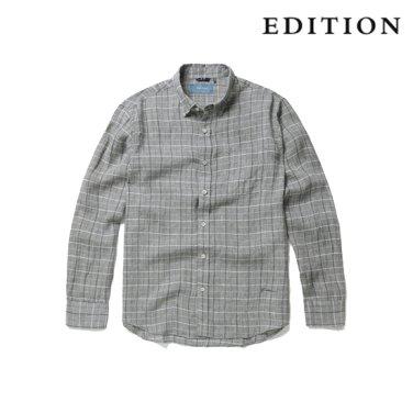 히든버튼 에어린넨 윈도우 페인 체크 셔츠 (NEZ3WC1634)