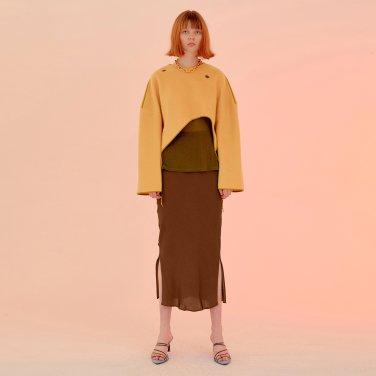 Salang Skirt Slit_Brown (JC20SSSK27BRS)