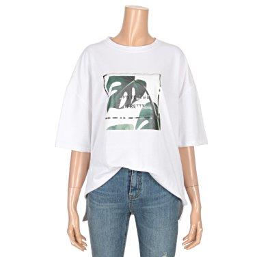 리프 호일 루즈핏 반팔 티셔츠 (BR1TS042L0)