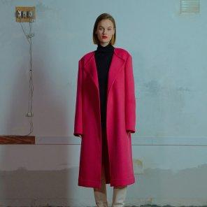 Nocollar open coat 001 Pink