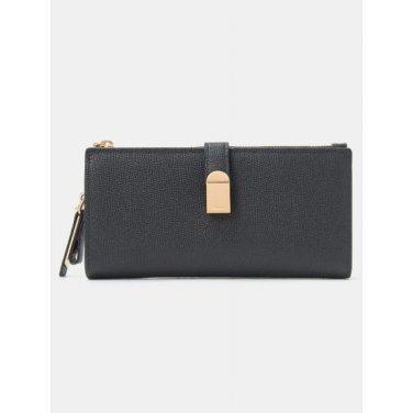 (여) 블랙 제니 2단 장지갑 (BE91A4M615)