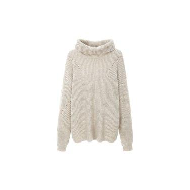 오버 핏 터틀 넥 스웨터 ITIBZPO930