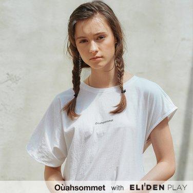 [우아솜메][박소담 착용] Ouahsommet Twist T-Shirt_WH (OBFTS010A)