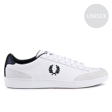 FRED PERRY Hopman Tumbled Action Leather with Suede(100)호프만SFPU31515-100_EL