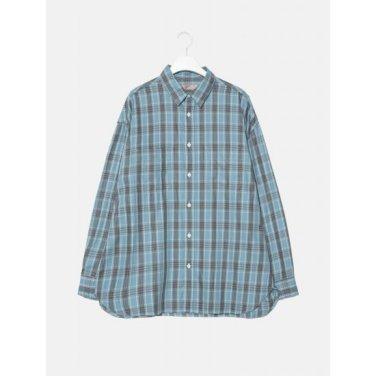남성 스카이 블루 베이직 타탄체크 셔츠 (269864DY2Q)
