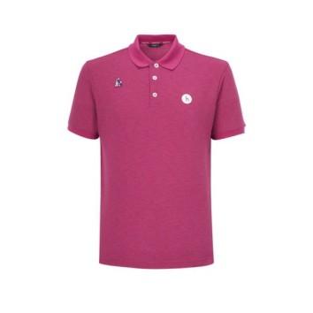 남성 핑크 패치장식 반팔폴로티셔츠 (HUTS0B421P3)