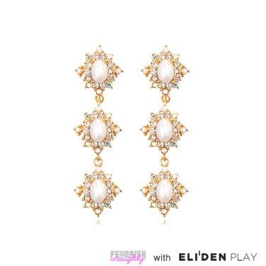 [피버리쉬앤너티] ROYALMATIC STAR TRIPLE EARRINGS-GOLD (RM1E5)