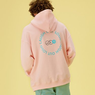 [RLOL] (HD-20101) RLOL BACK SMILE HOOD T-SHIRT PINK