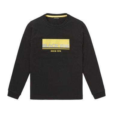 야크 오리지널 라인의 긴팔 라운드넥 티셔츠 [BK후크티셔츠]
