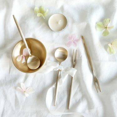 유기 양식 티스푼 티포크 4P세트