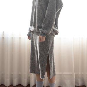 Merino Nano Natural Skirt Gray(2019SSSK320_03)