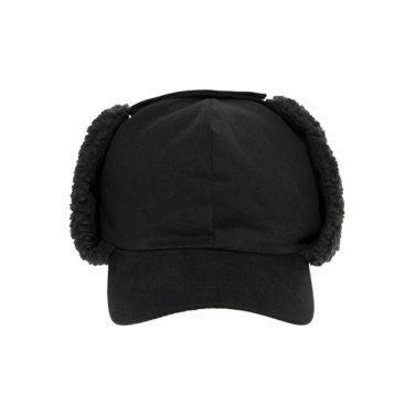 SUEDE WAPPEN LOGO TROOPER CAP BLACK
