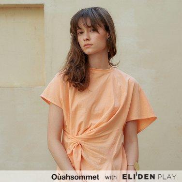 [우아솜메] Ouahsommet Twist T-Shirt_CR (OBFTS010A)