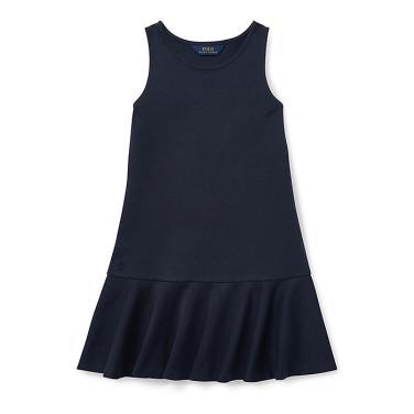 폴로 랄프 로렌 칠드런 폰테 슬리브리스 드레스(CWPODRSG3D10200B82)