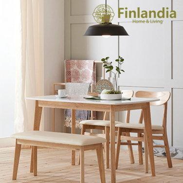 핀란디아 데니스 4인대리석식탁세트(의자2벤치1)