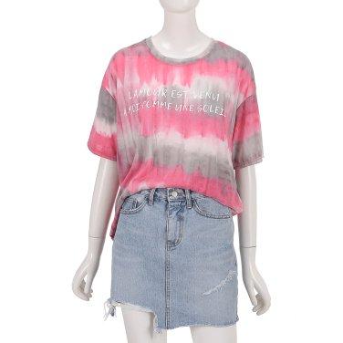 글라데이션 레터링 티셔츠 ZW9ME522