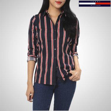 TFMS3HCE60A0(면혼방 핏티드핏 스트라이프 셔츠)