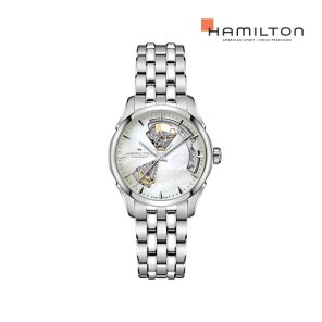 H32215190 재즈마스터 오픈 하트 36mm MOP 메탈 여성 시계