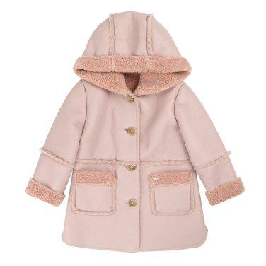 핑크 무스탕 코트 (T95KBC020)
