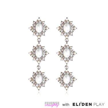 [피버리쉬앤너티] ROYALMATIC STAR TRIPLE EARRINGS-SILVER (RM2E5)