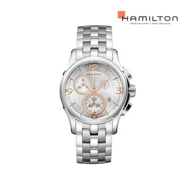 H32612155 재즈마스터 크로노 쿼츠 42mm 실버 메탈 남성 시계