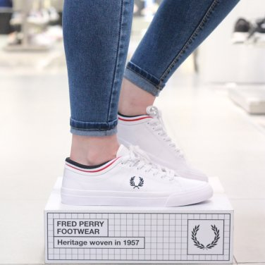 FRED PERRY 공용 켄드릭 레더 Kendrick Tipped Cuff Leather(646) SFPU1834266-646