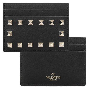발렌티노 QW1P0486BOL 0NO FW 락스터드 카드 지갑 홀더 블랙 여성