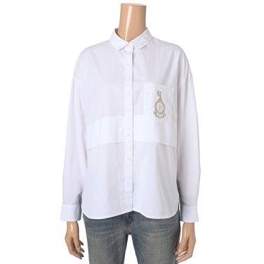 [여성]자수 포인트 루즈핏 셔츠 블라우스(T196MBL144W)