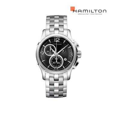 H32612135 재즈마스터 크로노 쿼츠 42mm 블랙 메탈 남성 시계
