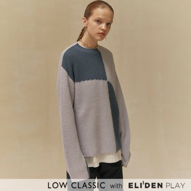 [로우클래식] 19 WINTER LOCLE COLOR BLOCK KNIT_BLUE (Z3LCI6KT102)