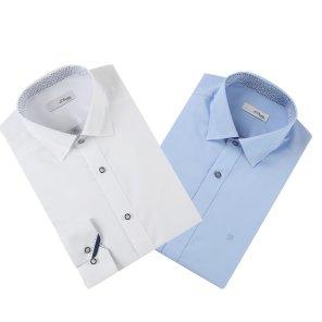 긴소매/슬림핏) 히든스냅카라 셔츠 (SE0SM21LS303S)