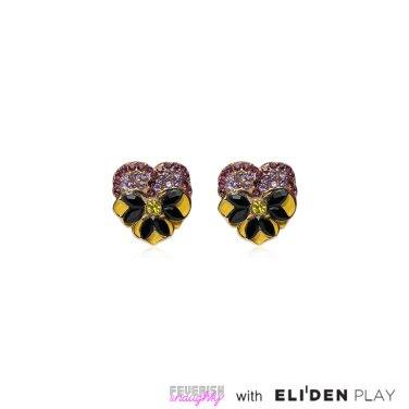 [피버리쉬앤너티] PANSY EARRINGS-GOLD (FL1E3)