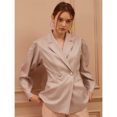 [까이에] Drop Shoulder Silk Blazer