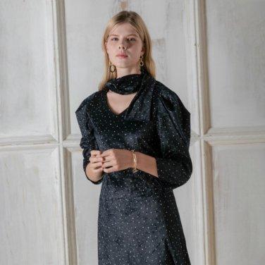 스노우 도트 퍼프소매 드레스(PL9OP06)