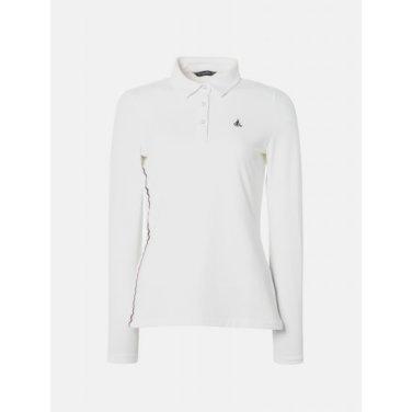 여성 아이보리 스트레치 프린팅 칼라 티셔츠 (BJ9141A010)