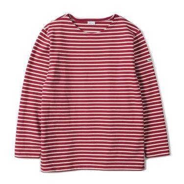NOCLAIM Boat-neck Basque Shirt Red x Ivory