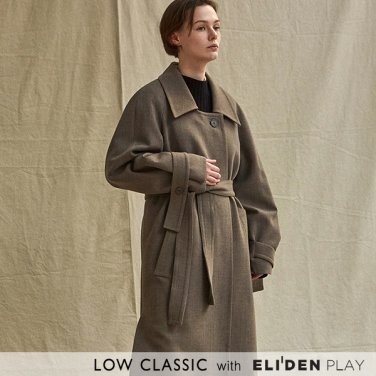 [로우클래식] 19FW LOW COLLAR COAT_BROWN (Z3LCI6CT005.BR)