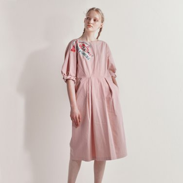 Happiness washed cotton dress (ANNAHS-OP020PKF.E)